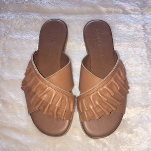 Shoes - New! Brown Faux Leather Sandals